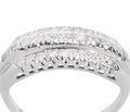 Triple Row Stackable Wedding Ring