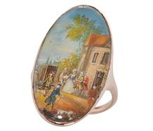 Van Blarenberghe Painting Georgian Ring