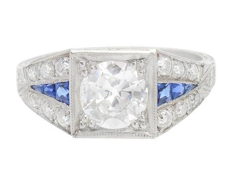 Inspiration - Sapphire Diamond Ring