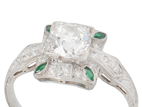 Inspiration - Diamond Emerald Ring