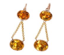 Georgian Marigold Hued Paste Earrings