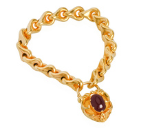 Beloved - Garnet Bracelet & Padlock Clasp