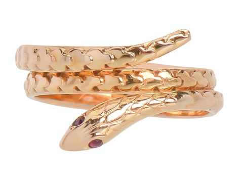 French Sensuality - Serpent Ring of Gold