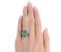 Night Escapade - Black Opal Art Deco Ring