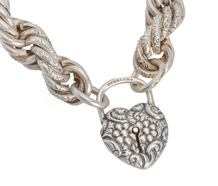 Chains of Love - Vintage Padlock Bracelet