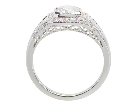 Platinum Promise Diamond Ring