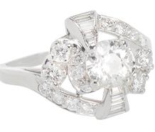 Dynamic Lines - Mid Century Diamond Ring