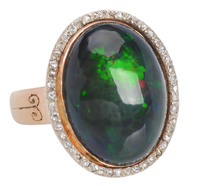 Mermaid's Coat - Black Opal Ring