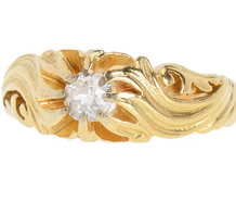 Heat Wave Art Nouveau Diamond Ring