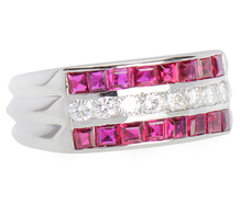 Mid-Century Delight - Ruby Diamond Ring