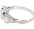 Three Diamond Platinum Ring
