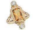 Nature's Honey - Citrine Diamond Ring
