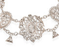 Renaissance Revival Silver Festoon Necklace