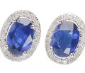 My Blue Heaven - Sapphire Diamond Earrings