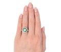 Old European Diamond Emerald Ring