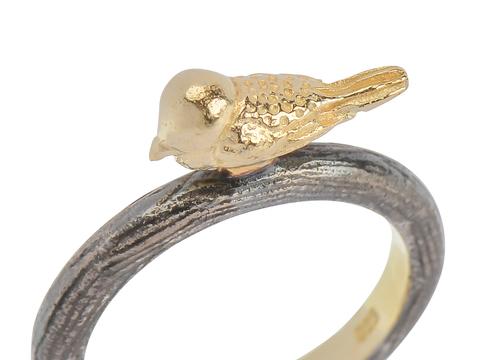 Tweeting - Petite Bird on a Ring