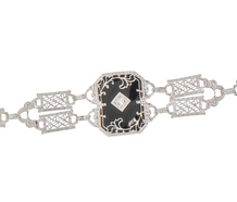 Black & White - Diamond Onyx Bracelet
