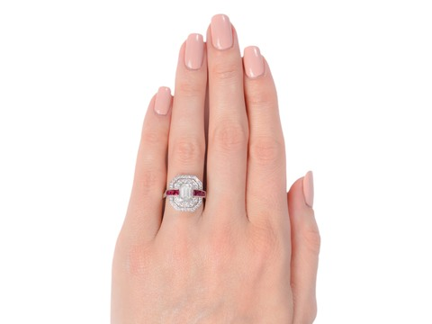 Diamond Ruby Dinner Ring