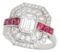 Diamond Ruby Dinner Ring