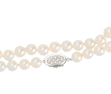 Timeless Pearl Necklace & Diamond Clasp