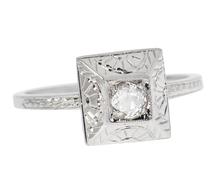 Sun Worshiper - Art Deco Diamond Ring