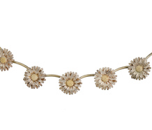 Daisy Chain - Sterling Silver Flower Necklace