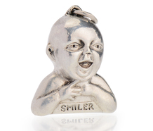 English Sterling Silver Baby Pendant