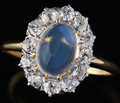 Edwardian Shimmer - Blue Moonstone Ring