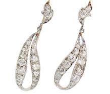 Sensual Sway - Diamond Ribbon Earrings