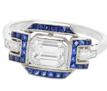 Horizon's End - Sapphire Diamond Ring