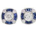 Evening Song - Sapphire Diamond Stud Earrings