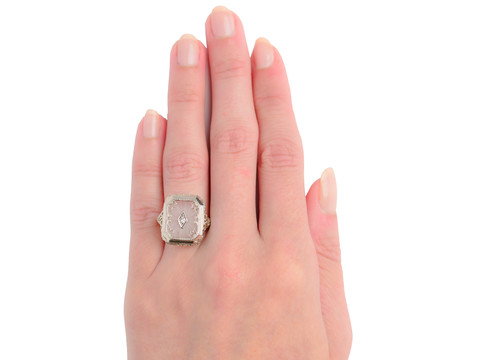 Rays of White - Rock Crystal Ring