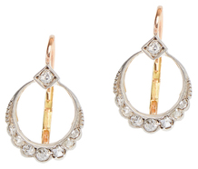 The Silvery Moon - Diamond Earrings