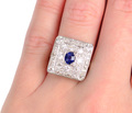 Bewitched - Sapphire 1.95 c. Diamond Ring