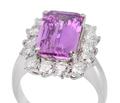 Luminous No Heat Pink Sapphire Ring