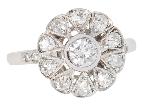 Petals of Perfection - Diamond Halo Ring .92 C.