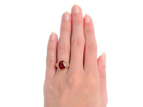 Spiced - Garnet Rose Gold Ring