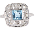 Tranquil Blue - Aquamarine Diamond Ring