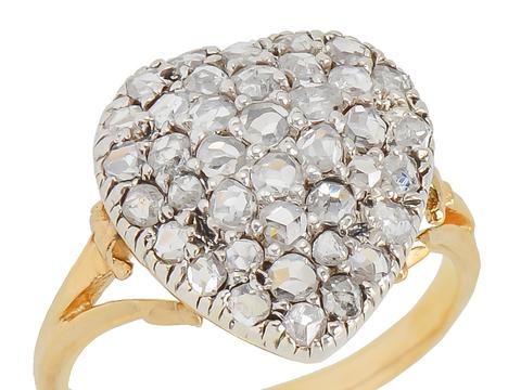 Heart in Hand -  Diamond Rose Cut Ring