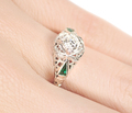 Art Deco Diamond Emerald Ring