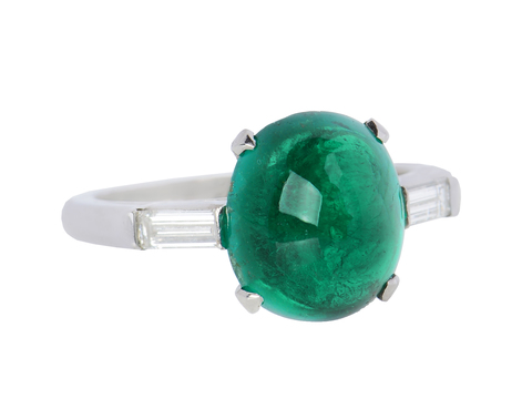 Biarritz Bauble - Exceptional Columbian Emerald Ring