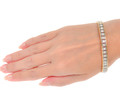 Crystalline Line - Diamond Bangle Bracelet