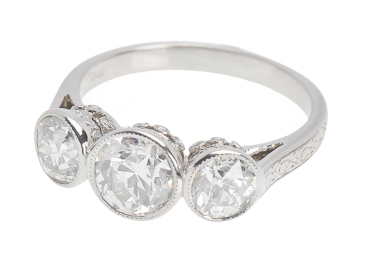 Painstaking 1.20 Ct Round Diamond Wedding Party Bridal Ring Band Set 14k White Gold Size 4 Factory Direct Selling Price Engagement & Wedding