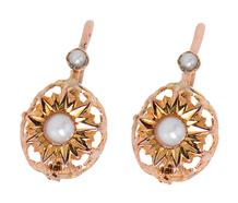 French Art Nouveau Pearl Earrings