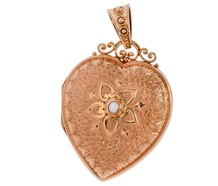 Heart's Content - Engraved Gold Locket