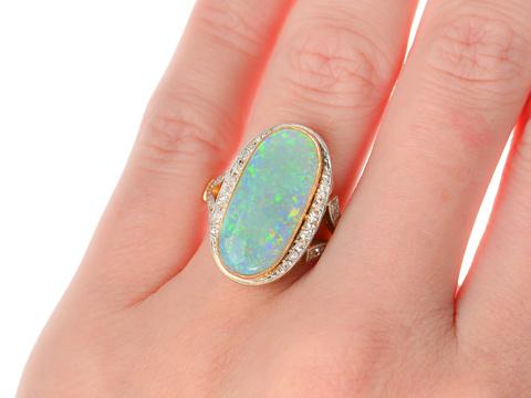 Opal Divine - French Gemstone Diamond Ring