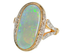 Opal Divine - French Gemstone Diamond Ring