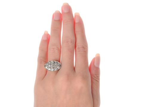 Vintage Diamond Palladium & Gold Ring
