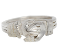 Silver Fede Gimmel Ring Clasped Hands