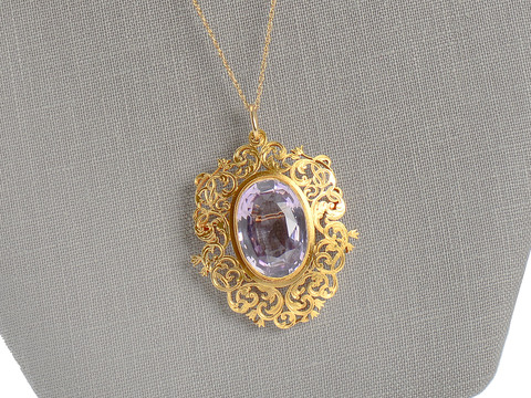 Romance in a Victorian Brooch Pendant